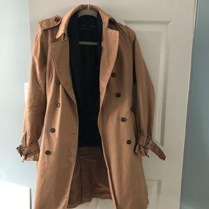 Zara tan color trench coat